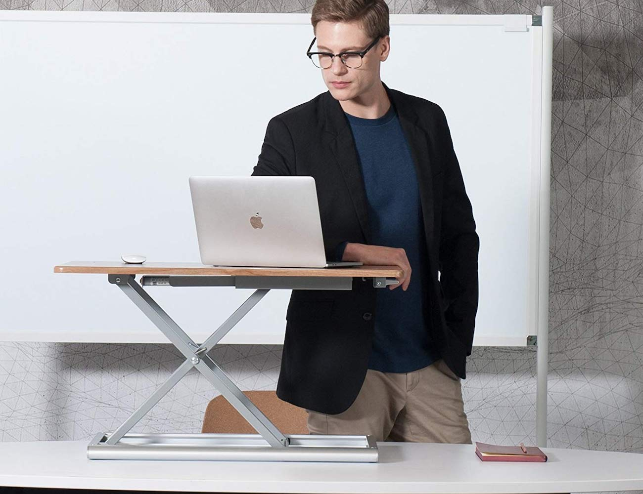 UPERGO Standing Desk Converter lets you quickly change from sitting to standing
