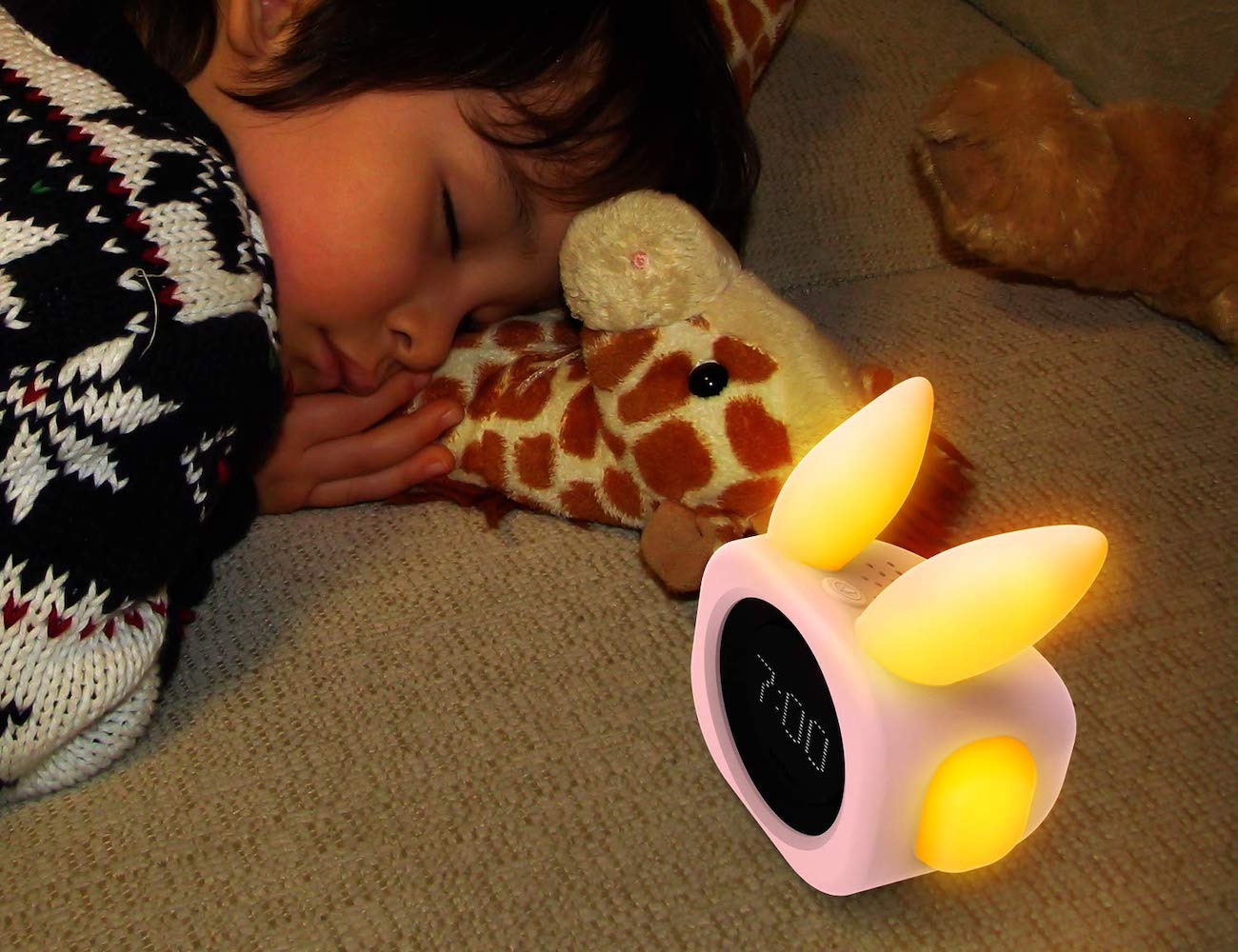 Vobot Bunny Smart Sleep Trainer tells your child went to get up or sleep