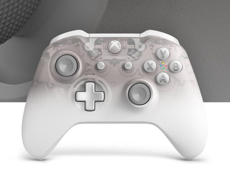 Xbox+Phantom+White+Special+Edition+Wireless+Controller+has+a+translucent+appearance