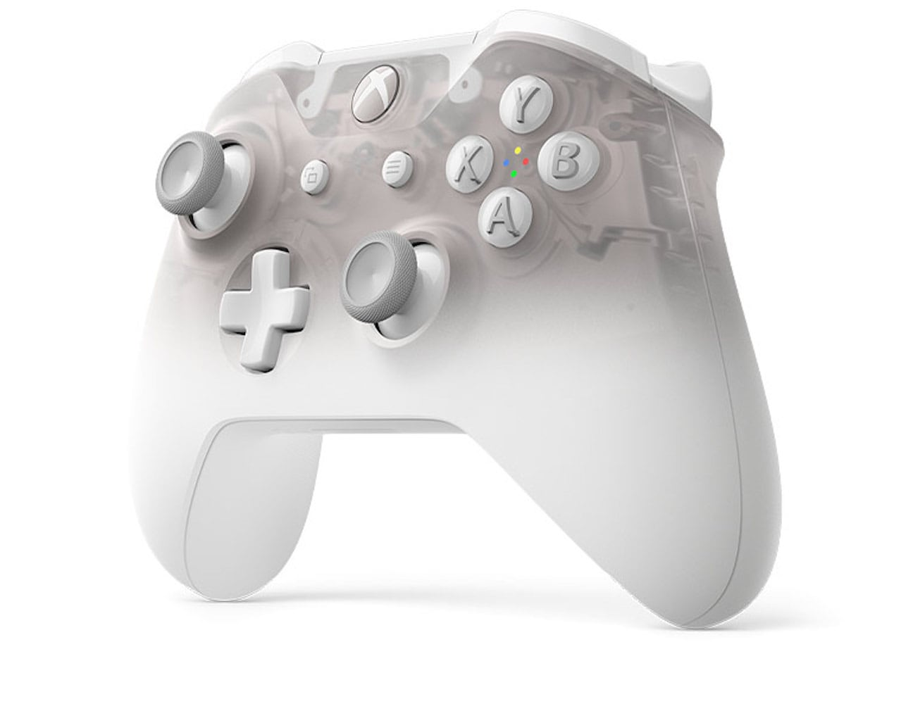 Xbox Phantom White Special Edition Wireless Controller has a translucent appearance