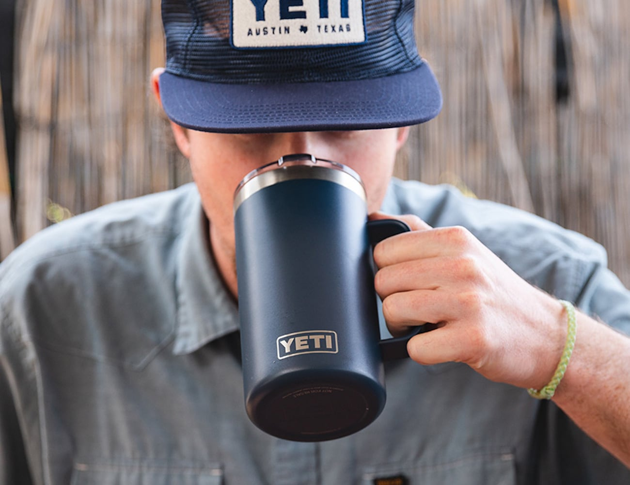 YETI Rambler 24 oz Beer Mug keeps your beverages nice and frosty