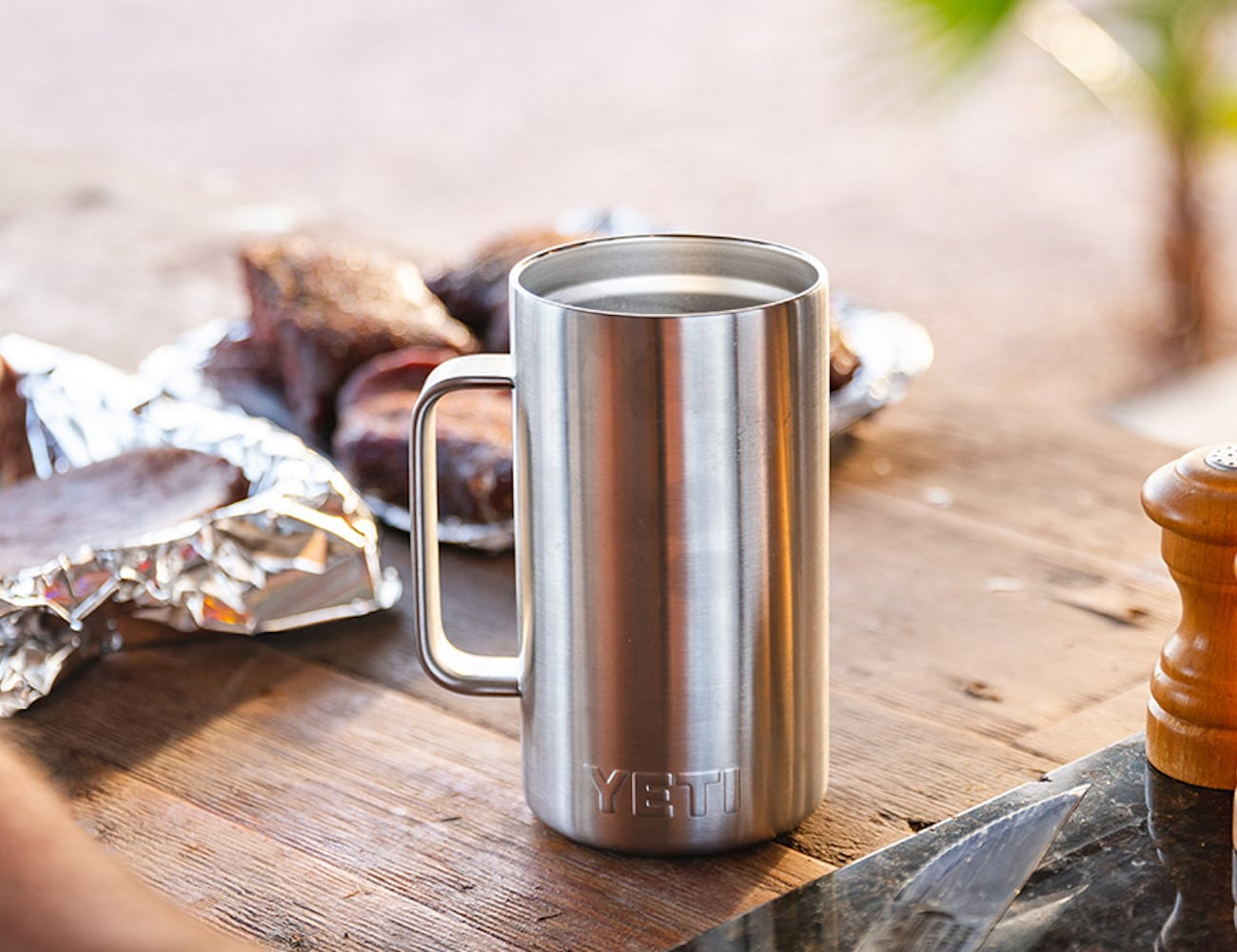 81c4bbe9a21 YETI Rambler 24 oz Beer Mug keeps your beverages nice and frosty