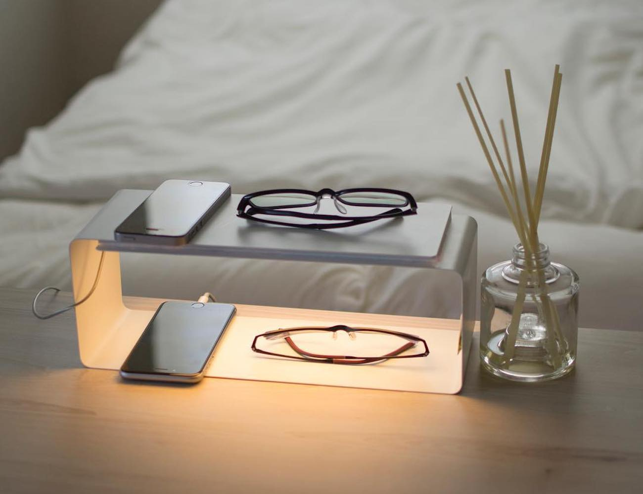 Y.S.M Minimal Lighting Shelf shines over your belongings