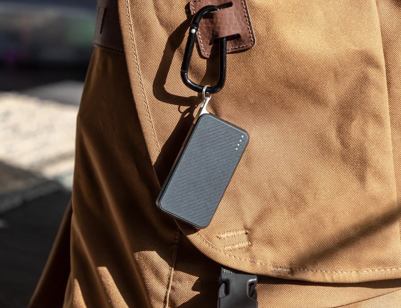 mophie Powerstation Keychain Power Bank charges your smartphone on the go