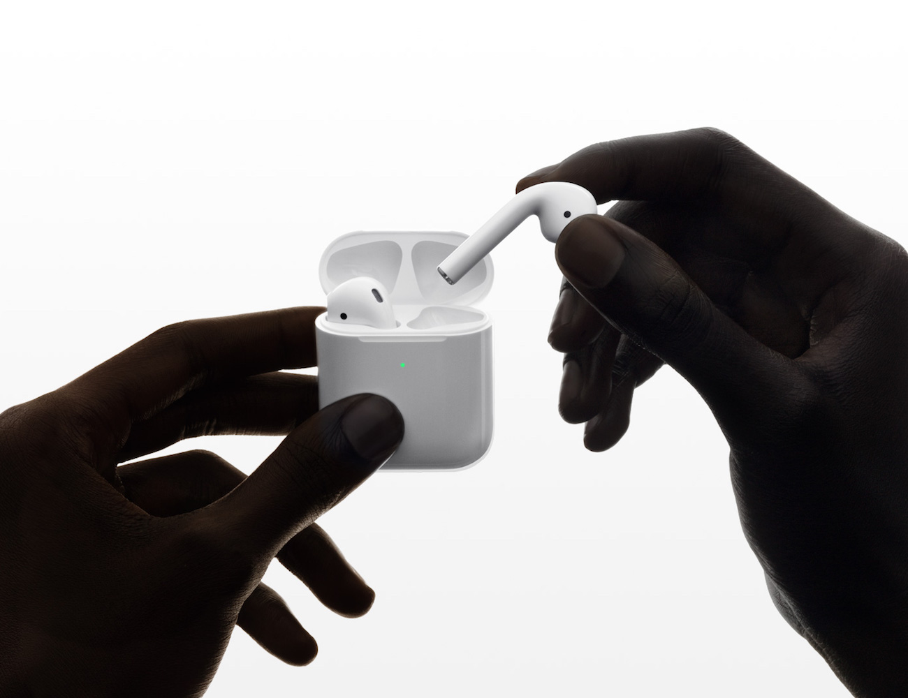 AirPods Gen 2 with Wireless Charging Case and easy access to Siri