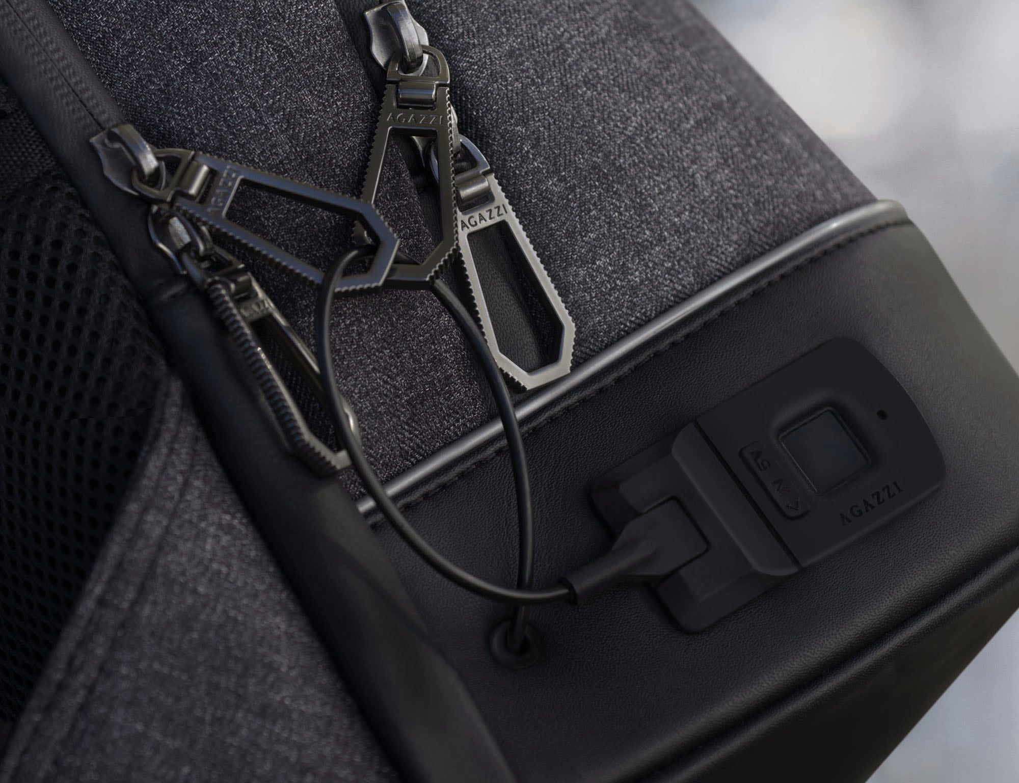 Agazzi Urban Tech Fingerprint Lock Backpack is all about protection