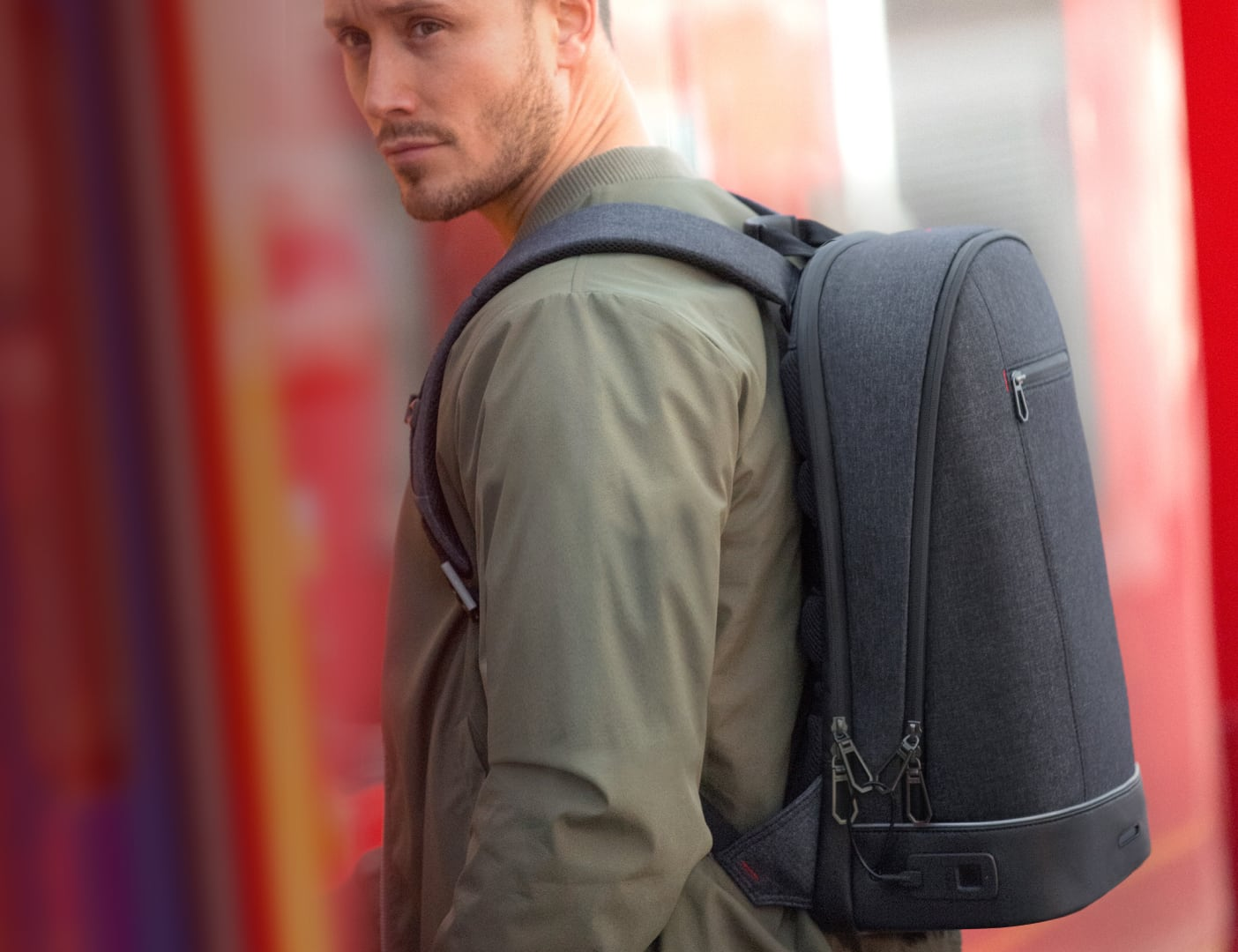 Agazzi Urban Tech Fingerprint Lock Backpack is all about protection loading=