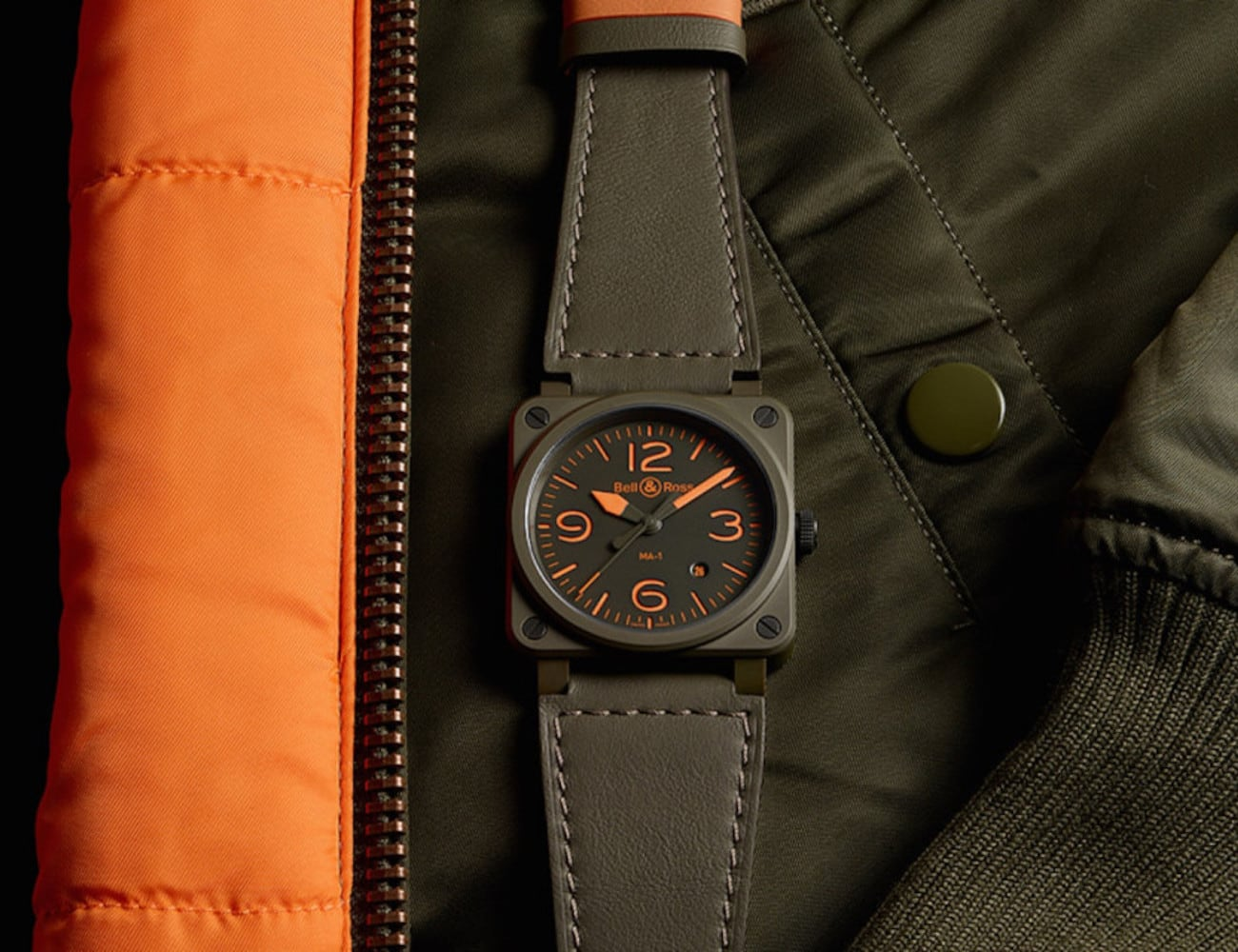 Bell & Ross BR03-92 MA-1 Streamlined Pilot Watch offers iconic US Air Force style