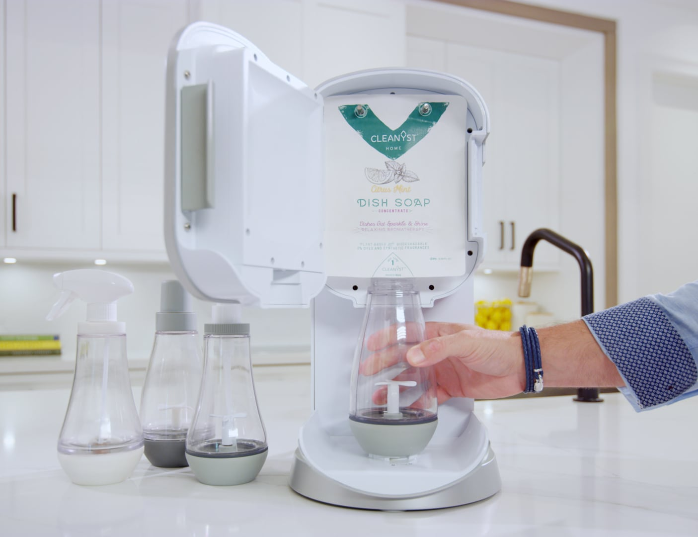 Cleanyst Home & Body Care Product Mixing System saves money and the planet