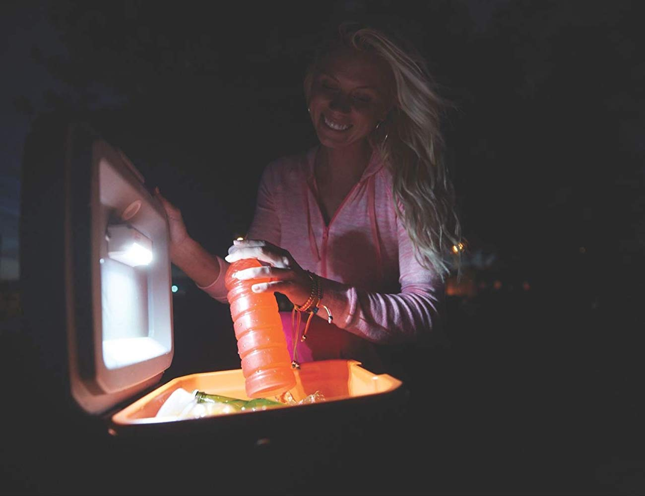 Coleman Cold Glow Cooler Lid Light lets you see in the dark