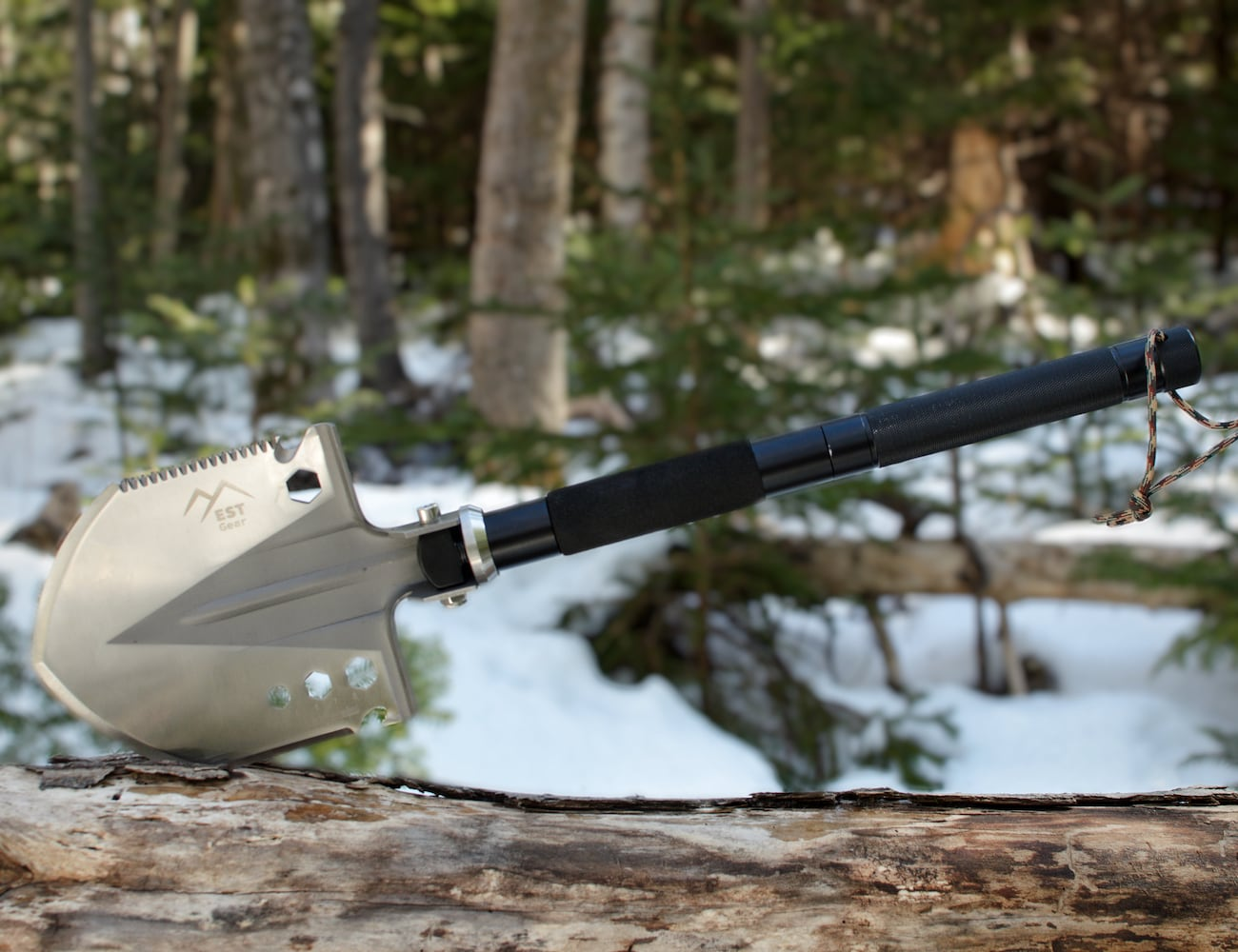 EST Shovel Multipurpose Adventure Tool combines 18 useful features in one loading=
