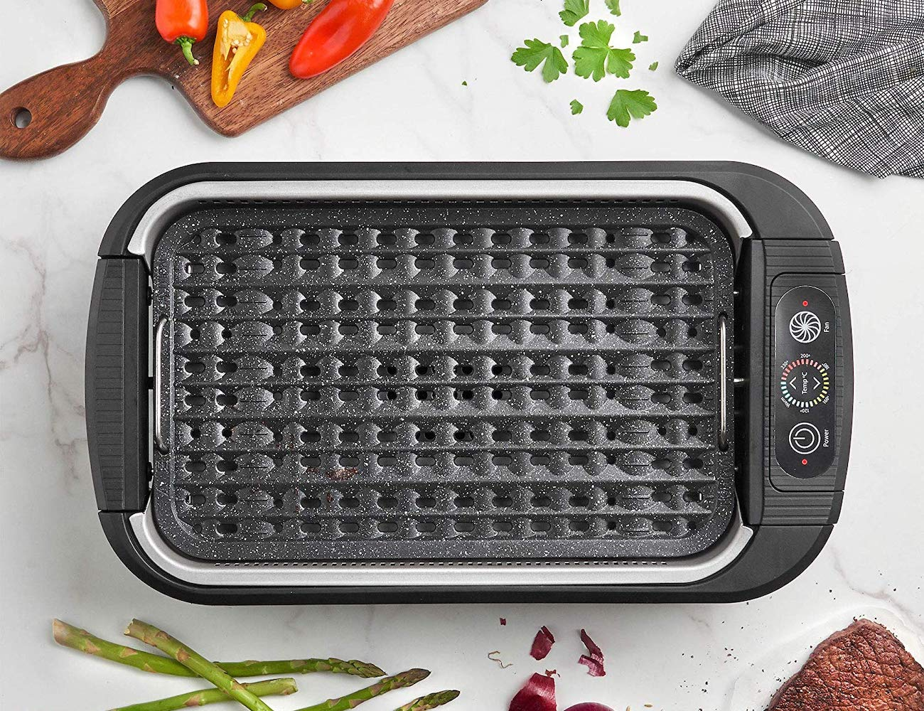 Electric Smokeless Grill by VonShef gives you an indoor BBQ