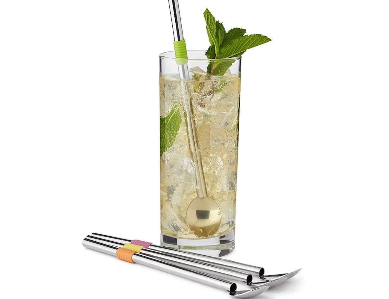 Endurance Stainless Steel Spoon Straws eliminate plastic straws