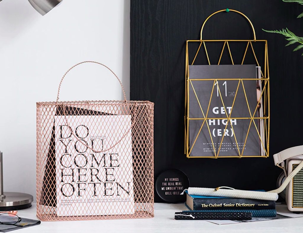 Geometric+Design+Metal+Magazine+Rack+has+a+spot+for+anything