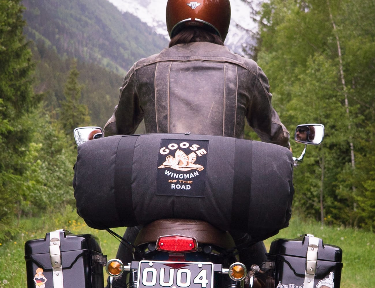 Goose Wingman Of The Road Motorcycle Camping System provides adventure
