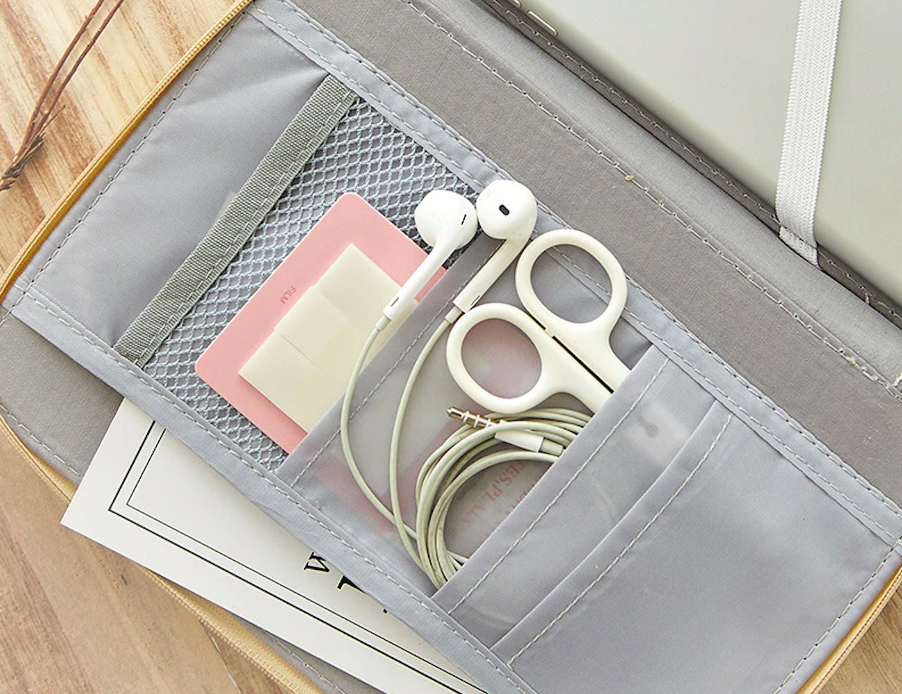 Large Zipper Stationery Case