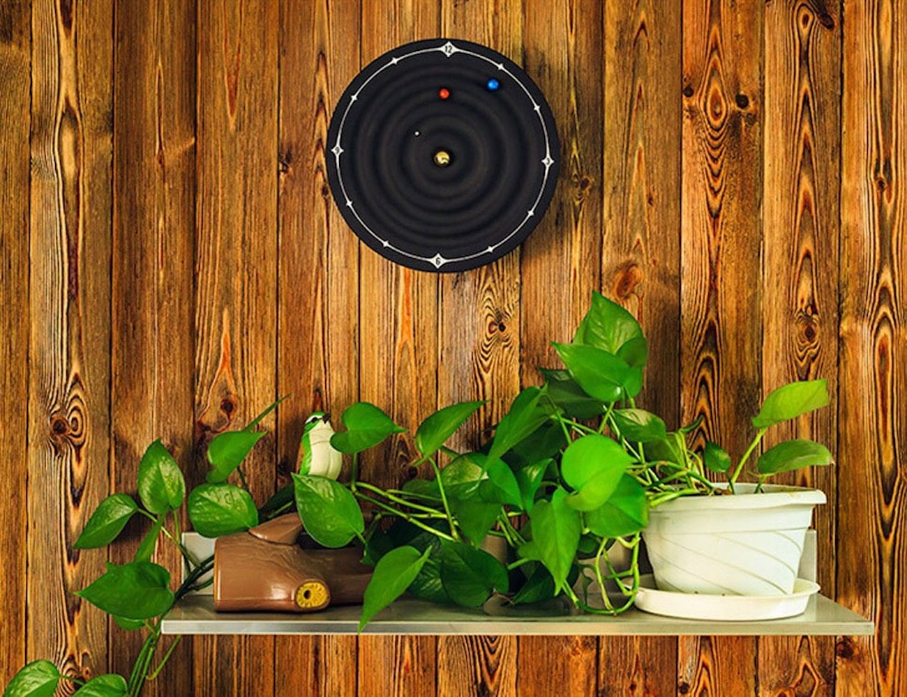Microtimes Galaxy Magnetic Wall Clock brings the solar system to your home