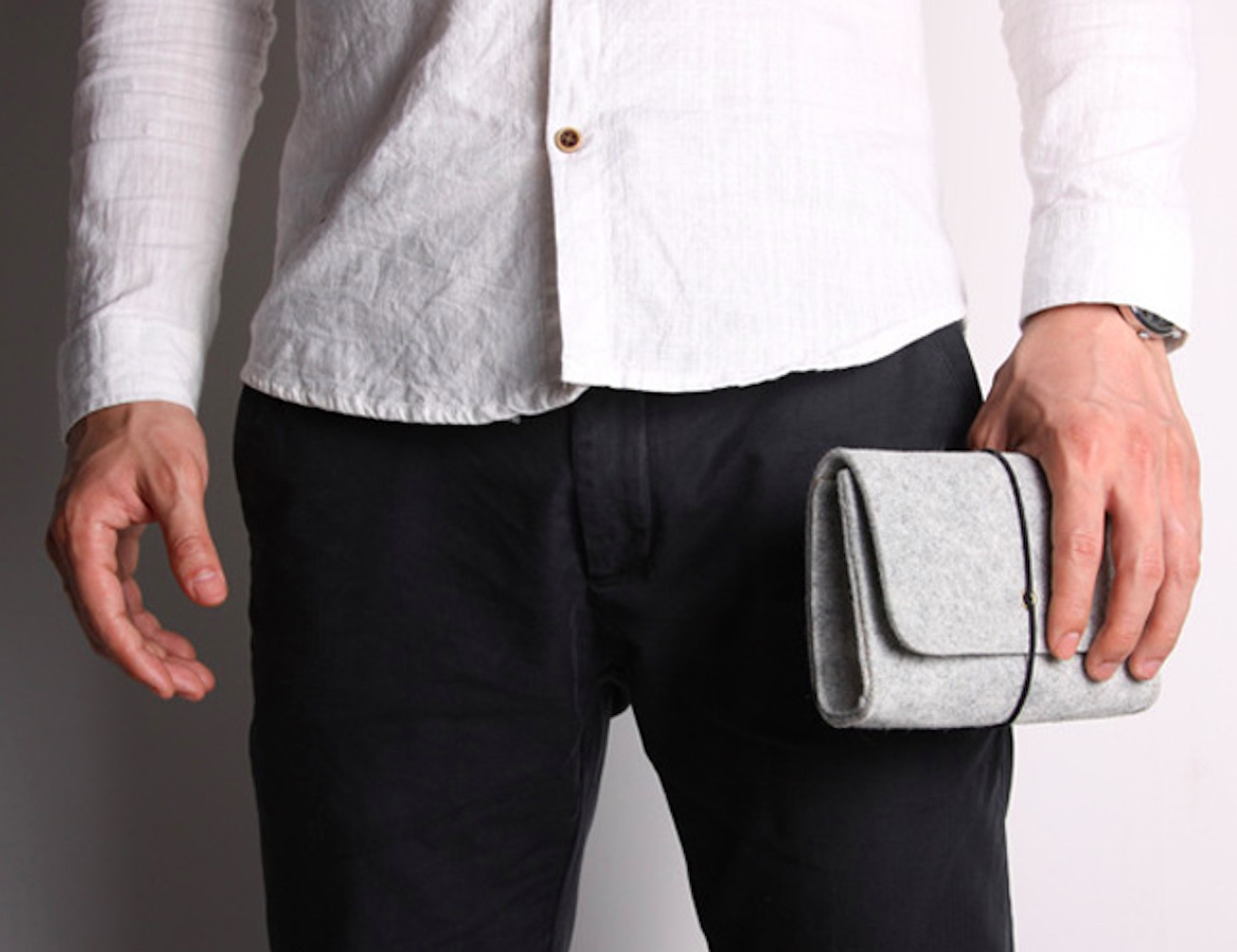 Mini Felt Digital Storage Pouch keeps your devices safe and secure