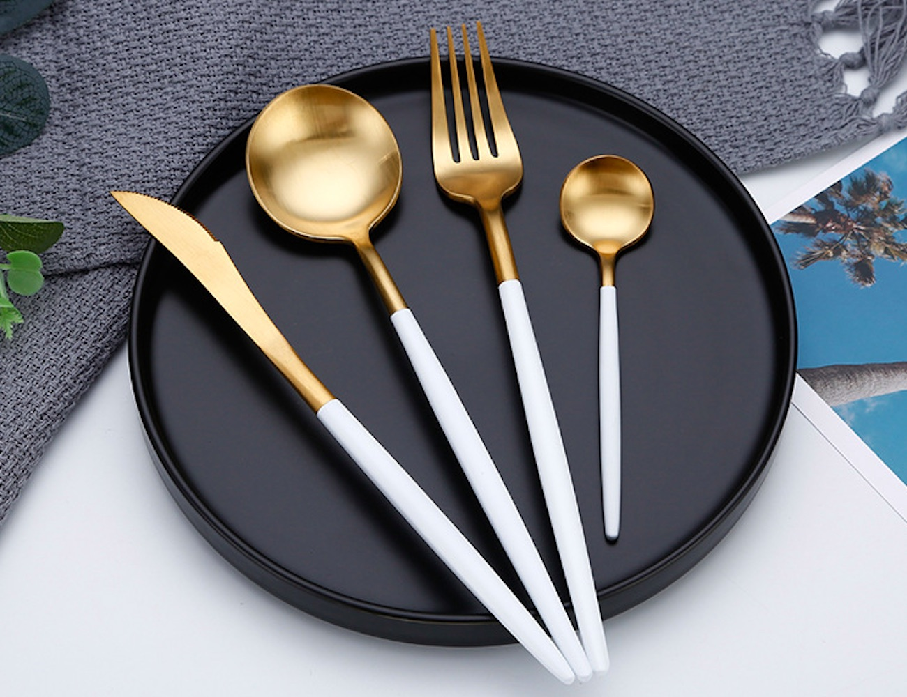 This Metallic Cutlery Set Is All About Style for Your Table