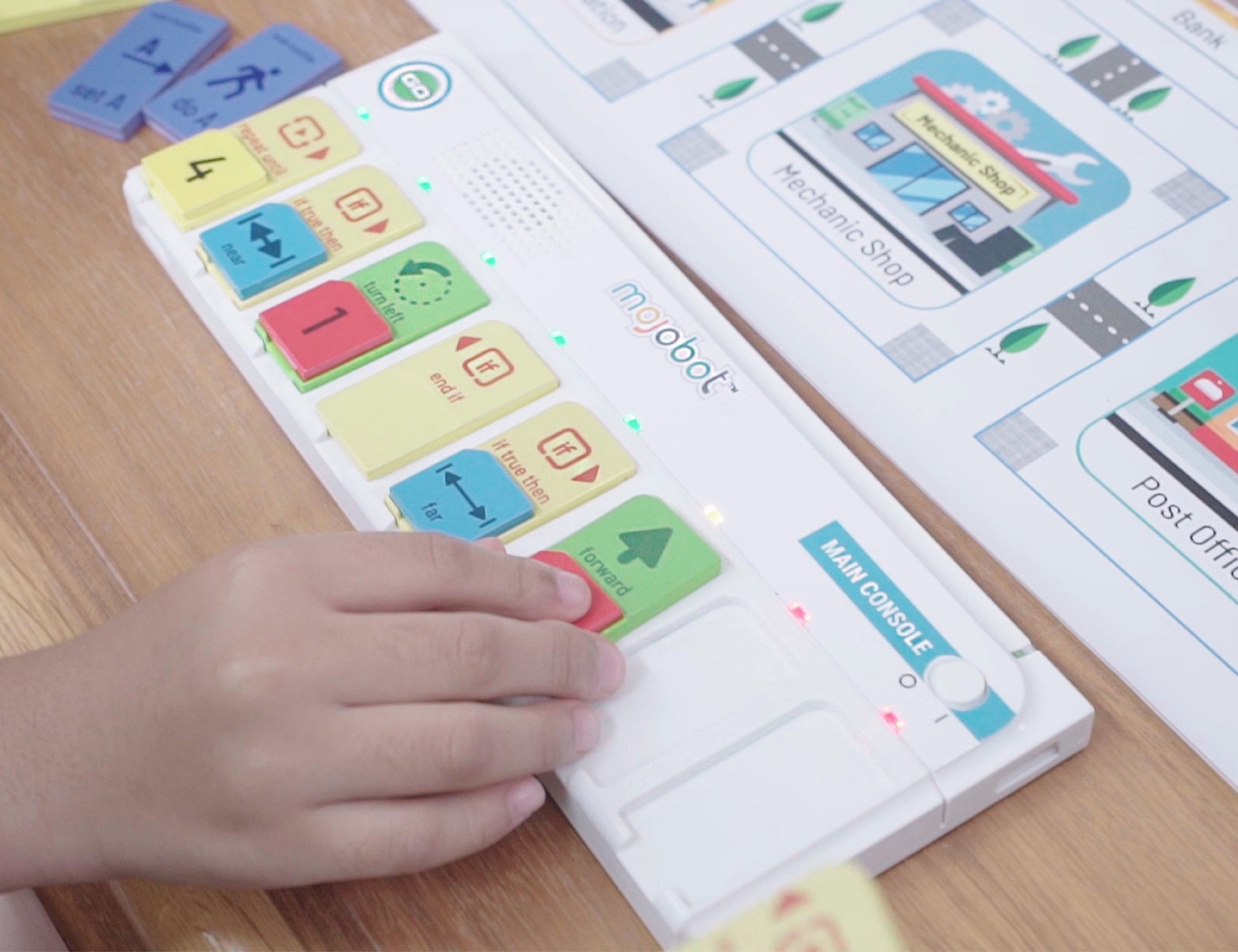 Mojobot Coding Robot Board Game helps kids learn to code