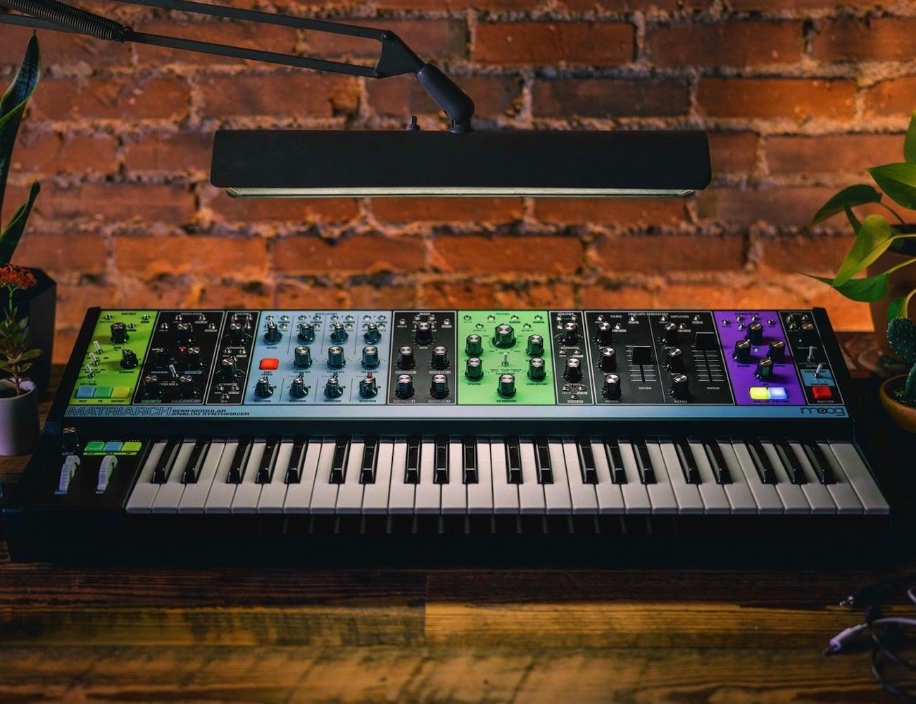 Moog Matriarch Semi-Modular Analog Synthesizer gives you incredible analog sound