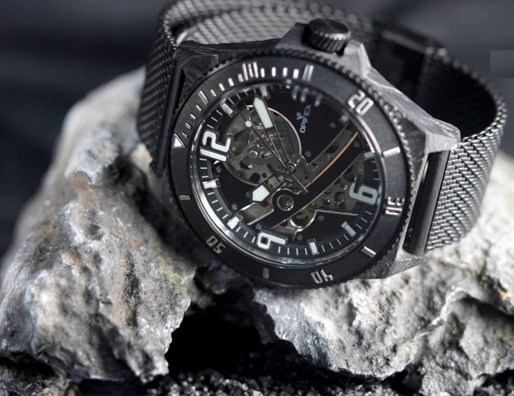 OPIFEX+TWO+Skeleton+Automatic+Watch+is+water+resistant+to+100+meters