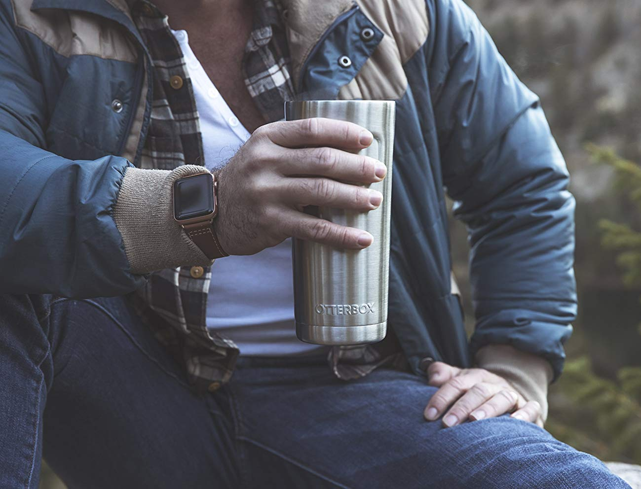 Otterbox Elevation 20 Stainless Steel Tumbler adapts to fit any adventure