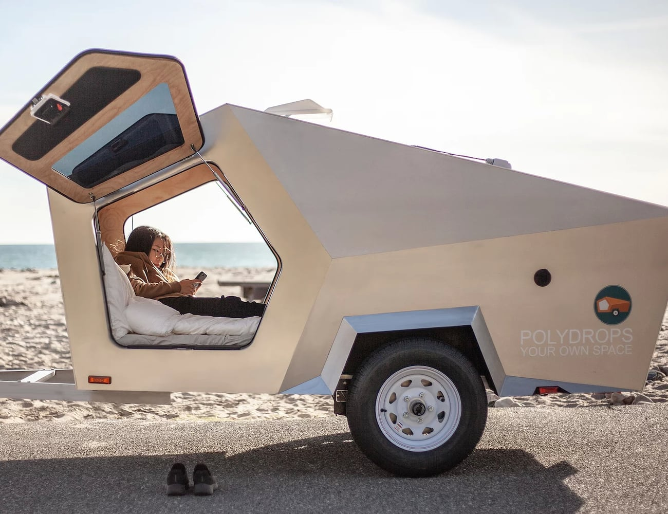 Polydrops Trailer Traveling Camper is your own space for trips