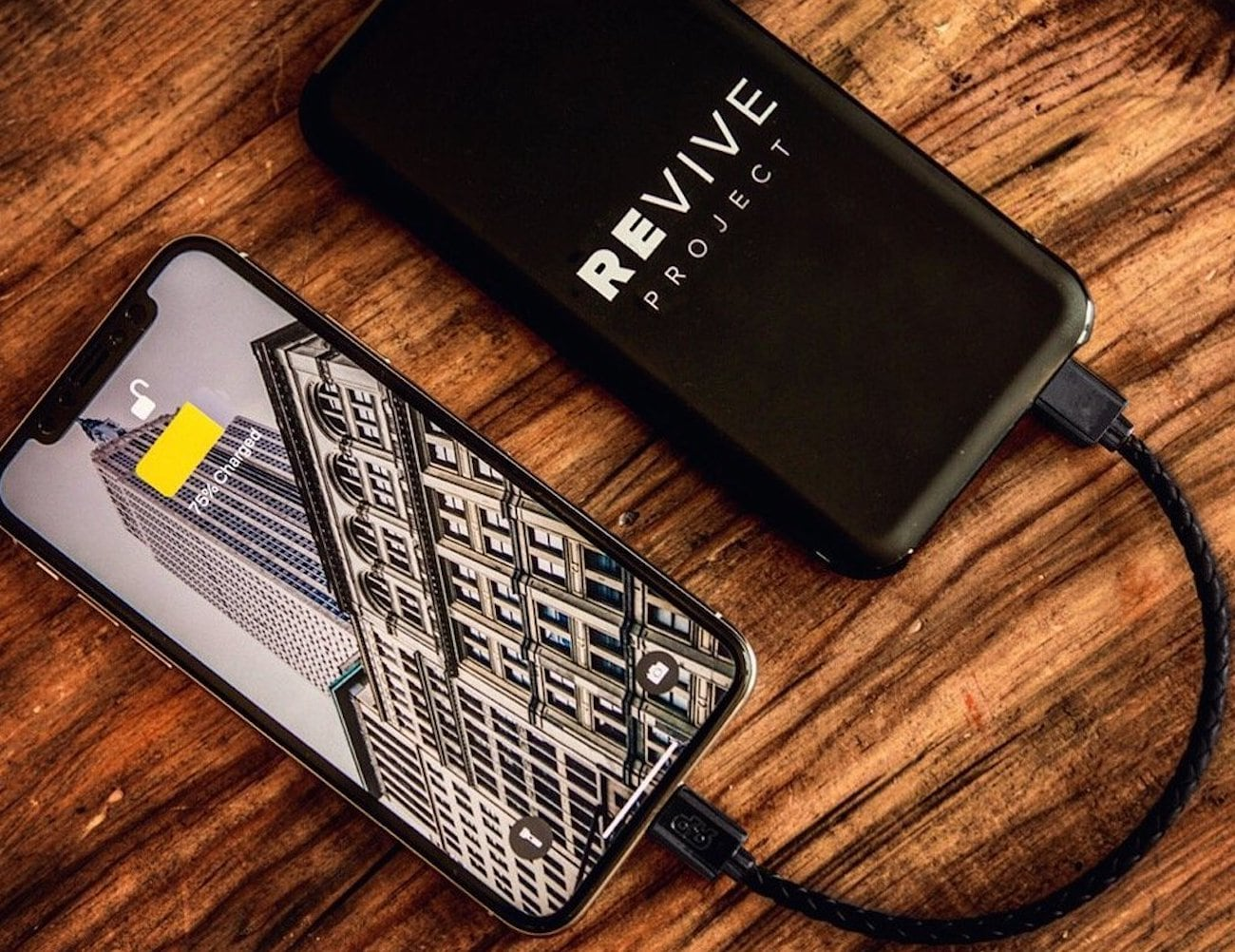 REVIVE 10,000 mAh High-Speed Power Bank charges with style