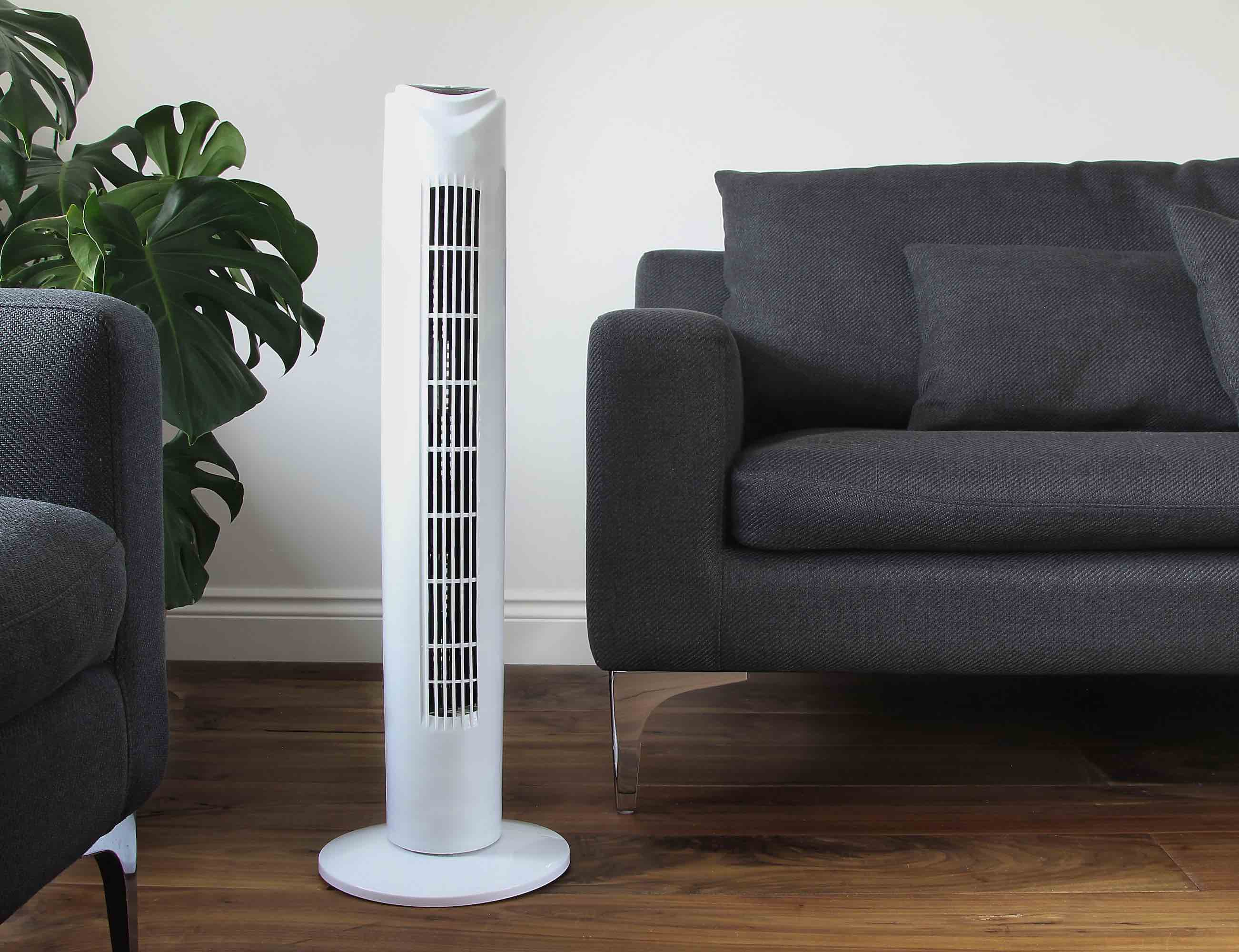SMARTOWER Voice Controlled Smart Fan turns on with just your voice