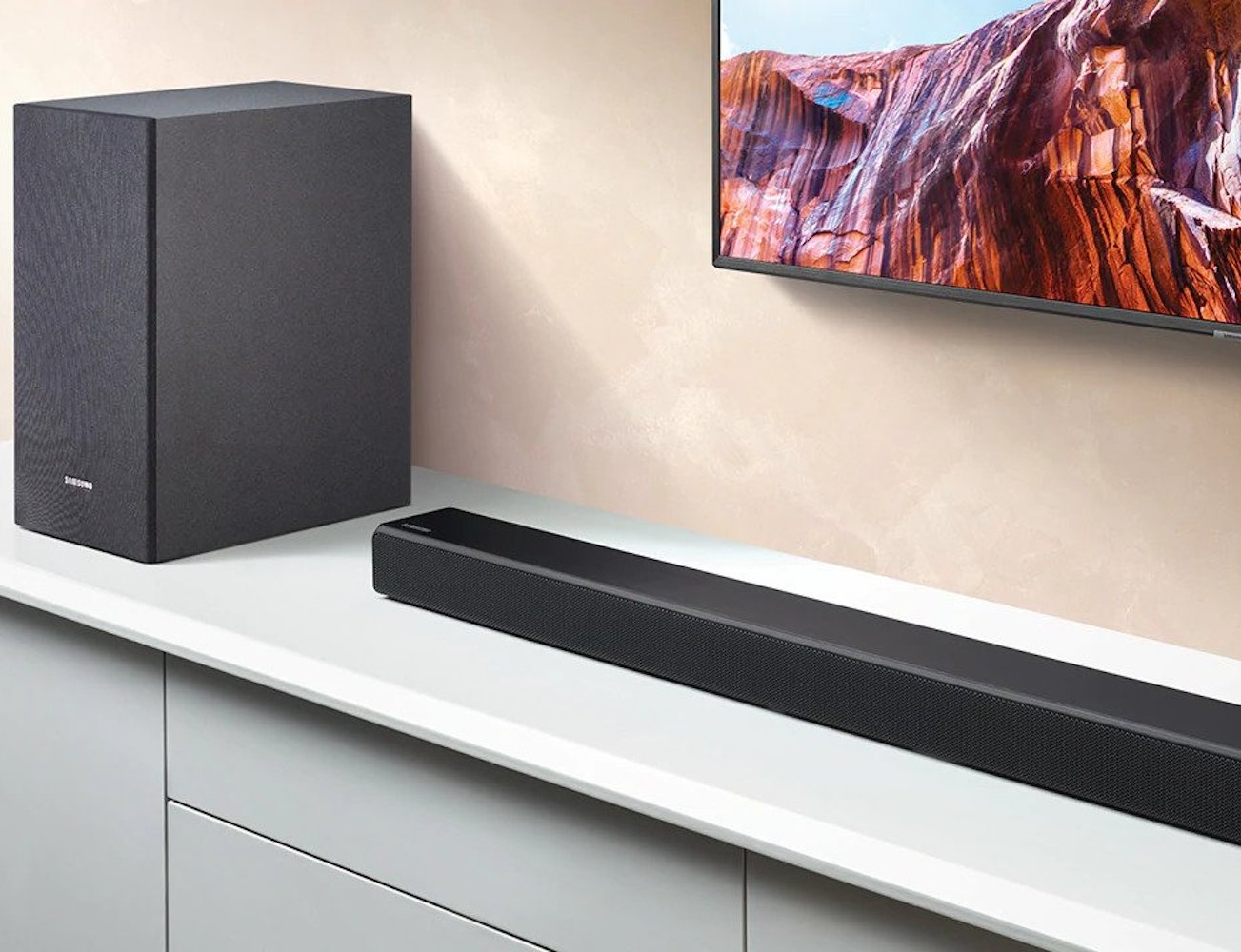 Samsung R Series Soundbar Collection goes perfectly with your Samsung TV
