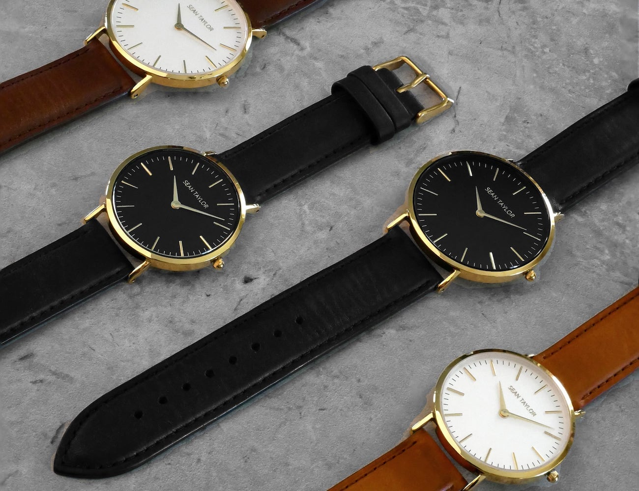 Sean Taylor Italian Leather Minimalist Watch is elegant and durable