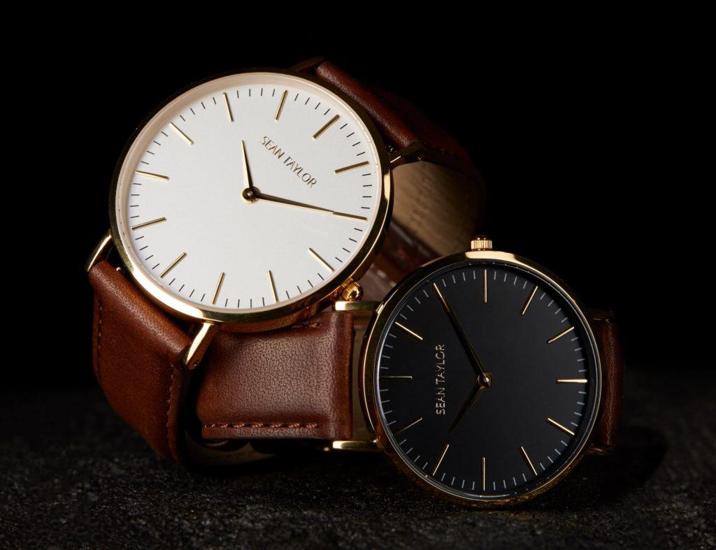 Sean+Taylor+Italian+Leather+Minimalist+Watch+is+elegant+and+durable