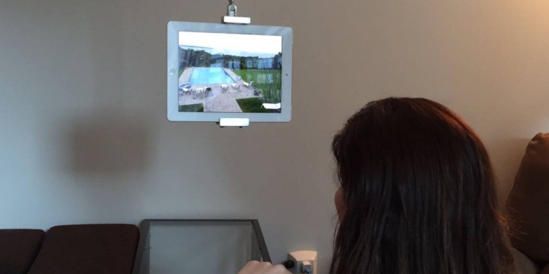SkyFloat is a new tablet mount that attaches to the ceiling