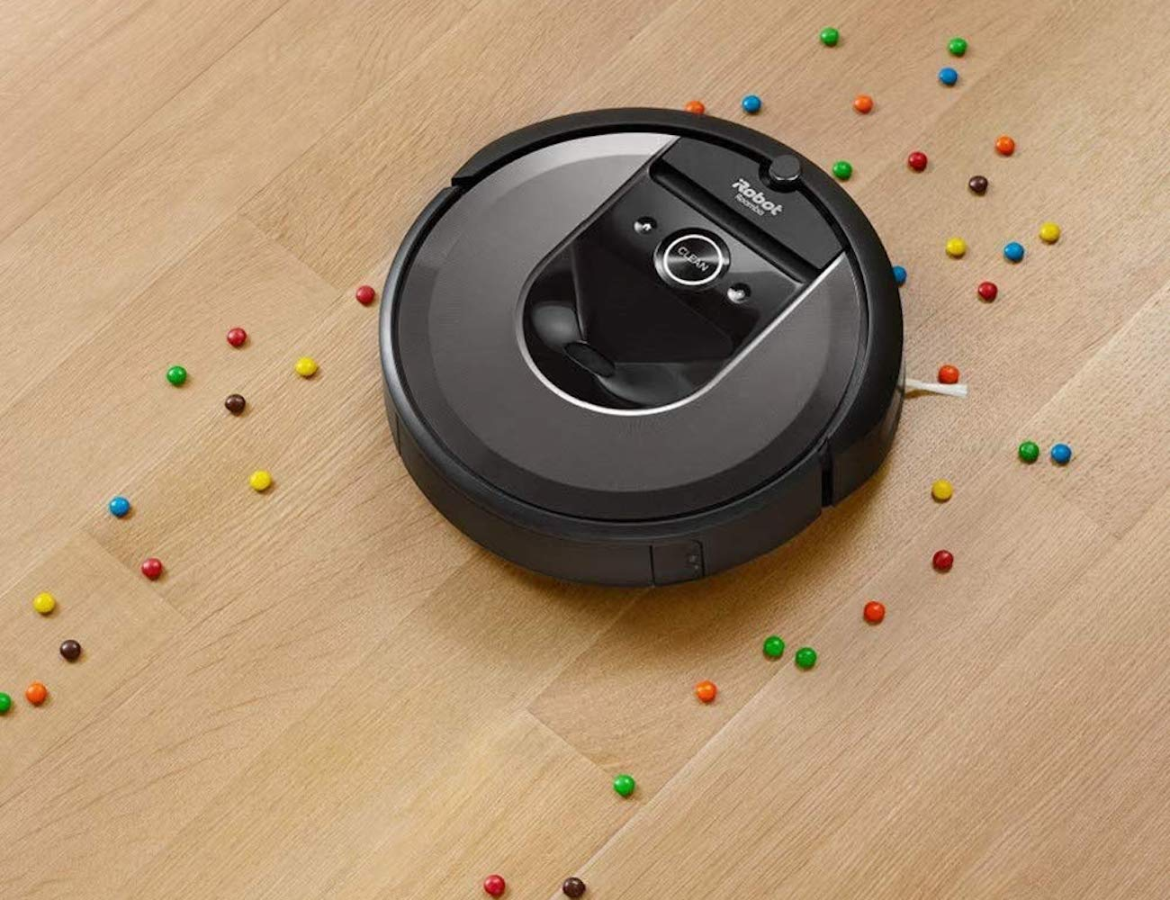 iRobot Roomba i7+ Wi-Fi Connected Robot Automatic Dirt Disposal Vacuum leaves nothing behind