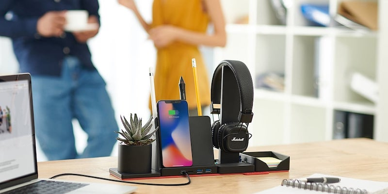 STEALTHO Transforming Desk Organizer with Wireless Charger
