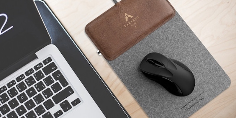 Takieso MousePad+ Portable Wireless Charging Mouse Pad