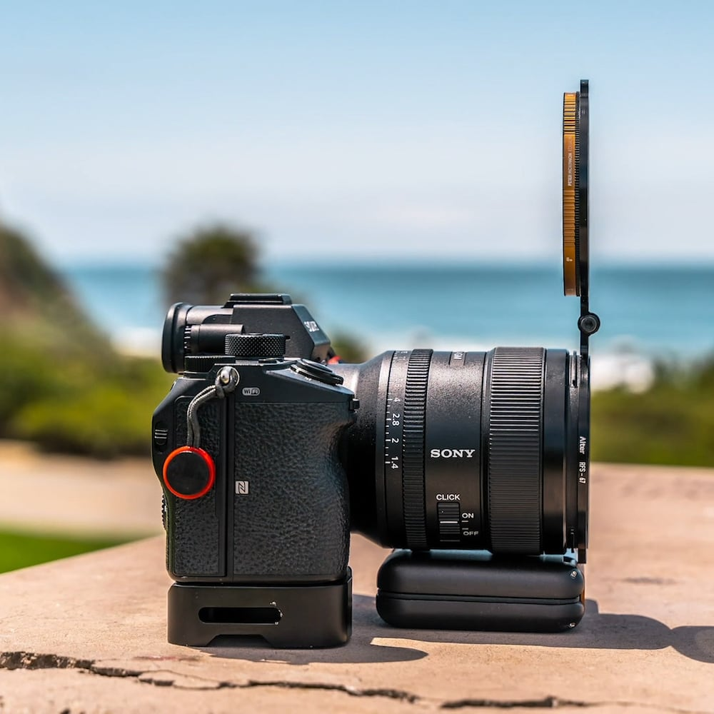 Alter Rapid Filter System Hinged-Lens Filter Adapter helps you quickly switch between accessories