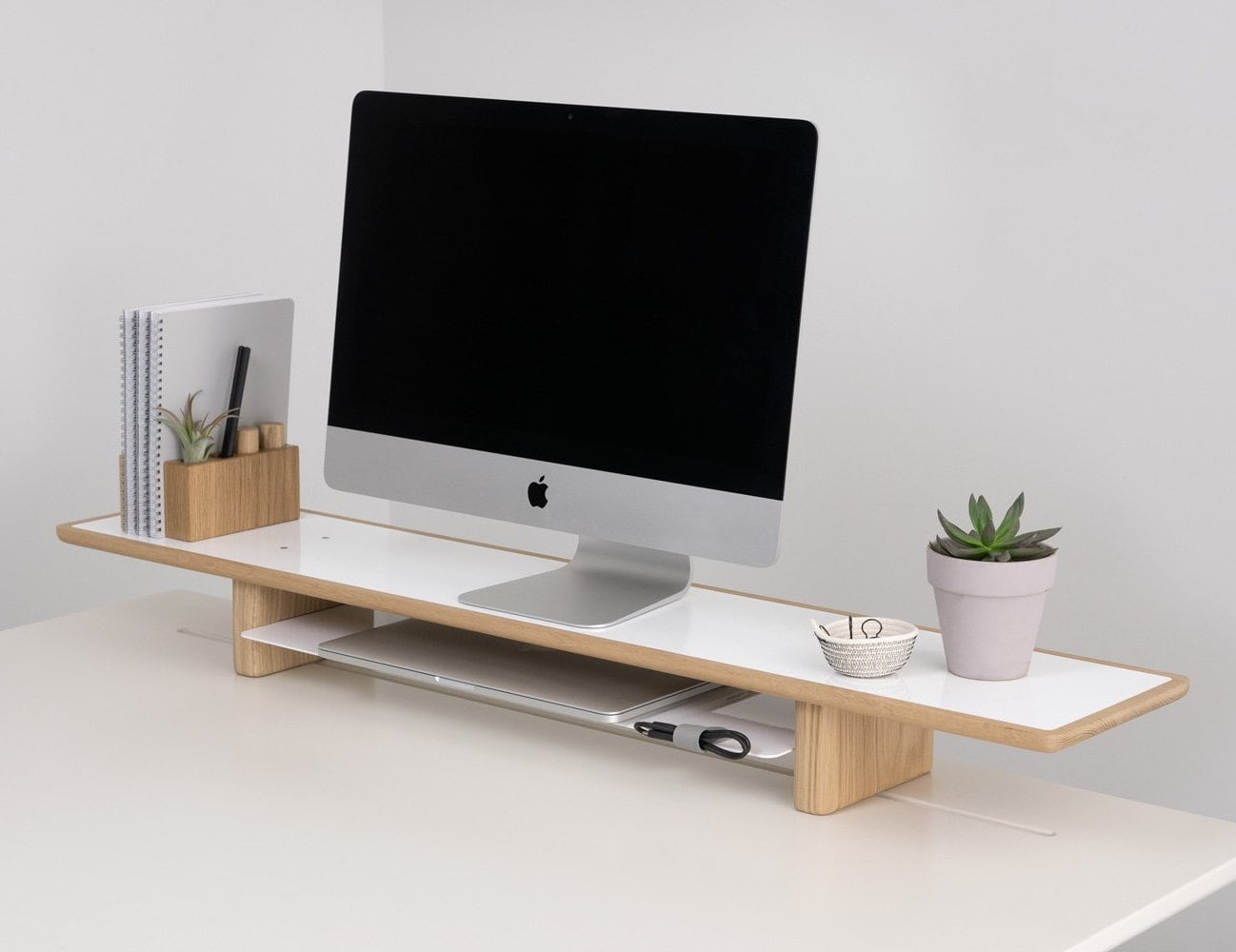 Artifox Lift Multi-Level Desk Storage gives you more space to work