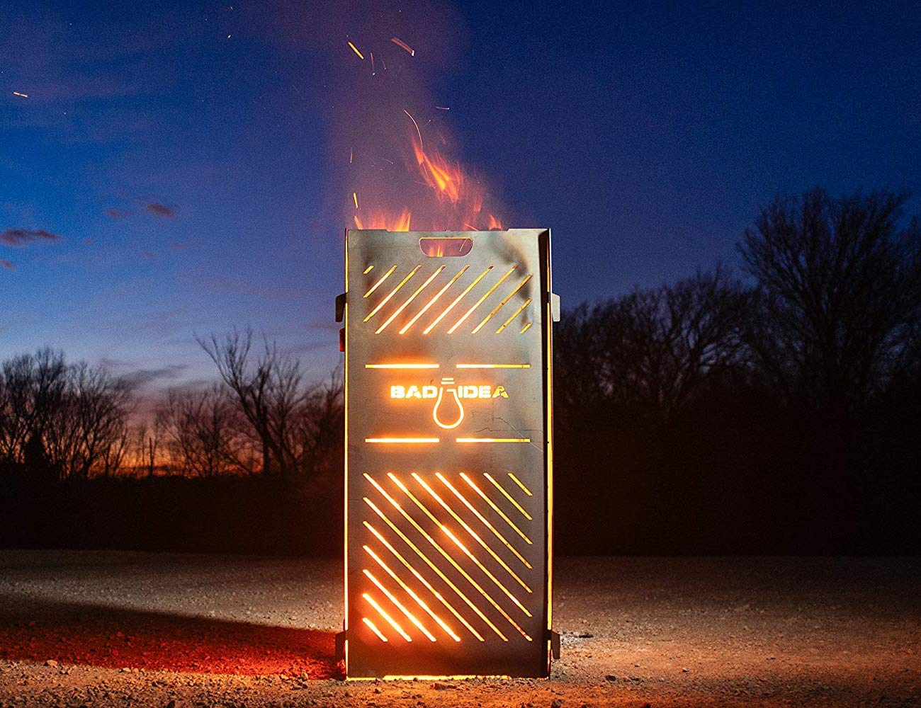 Bad Idea Metal Garbage Incinerator is here to help you burn debris from your yard