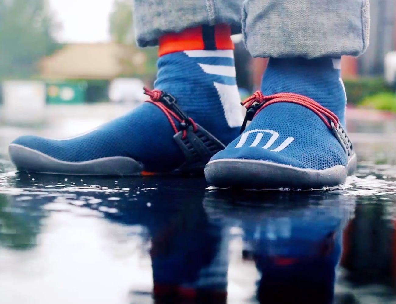 sock-like shoes are 100% waterproof