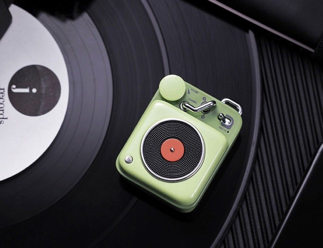 Elvis Retro Mini Bluetooth Speaker fits in the palm of your hand