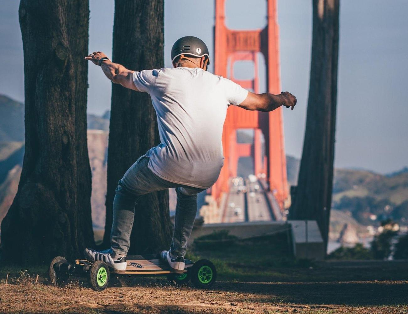 Evolve Bamboo GTR All-Terrain Electric Skateboard provides incredible flexibility and strength