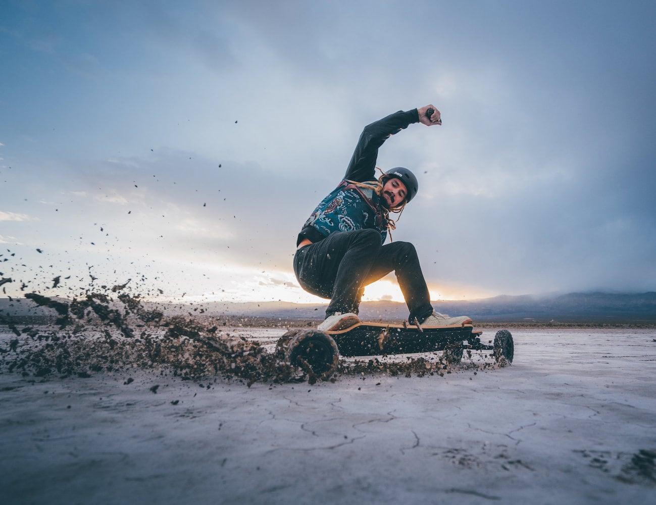 Evolve Bamboo GTR All-Terrain Electric Skateboard provides incredible flexibility and strength