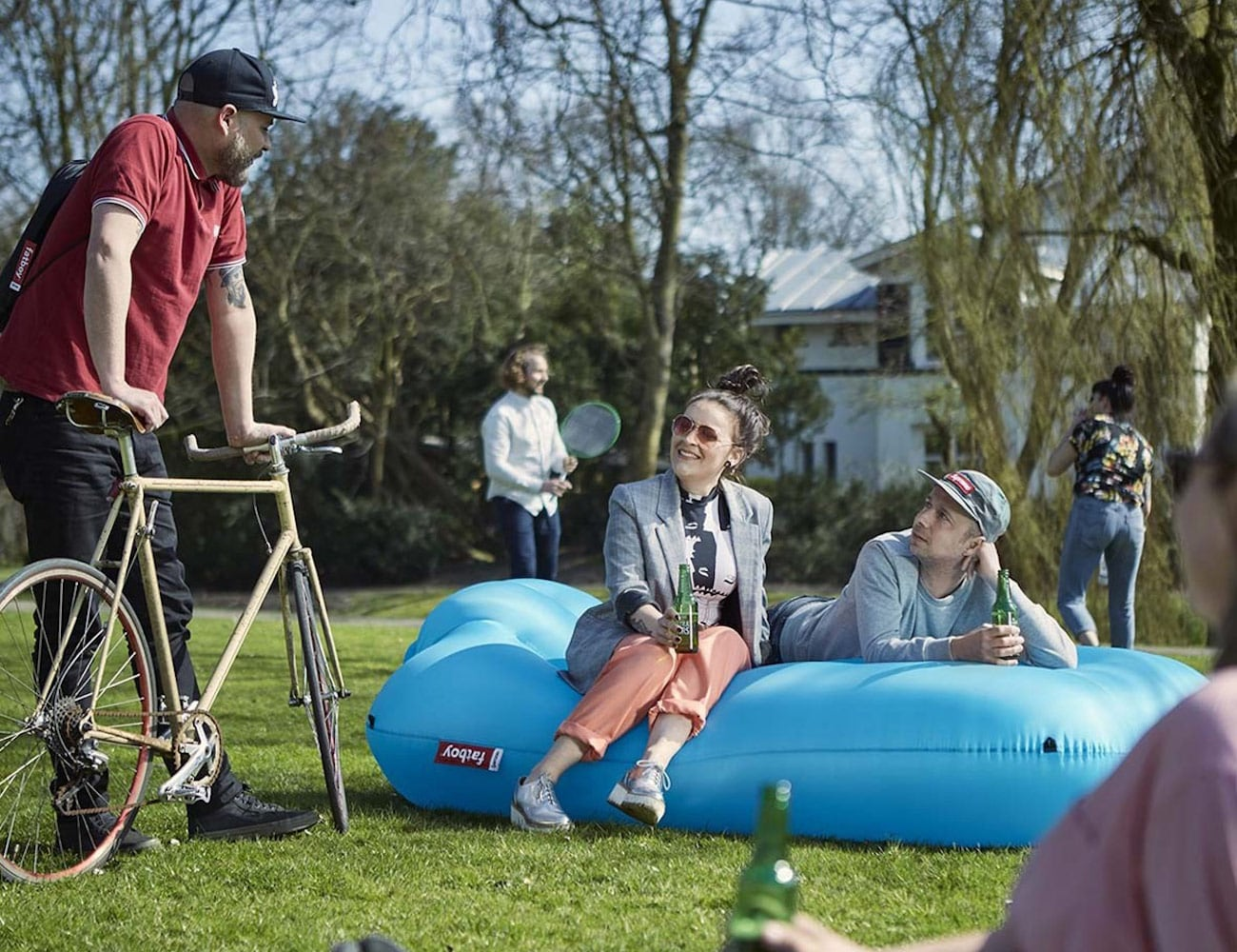 Fatboy Lamzac XXXL Inflatable Lounger inflates in just ten seconds