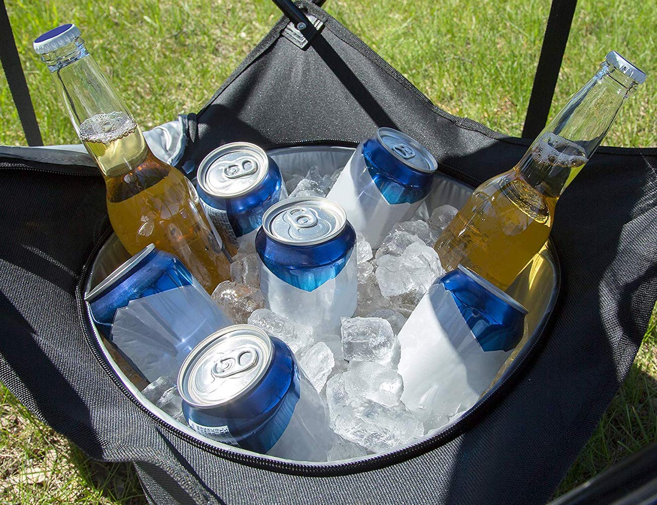 Folding Tailgating Table ensures your drinks stay cold