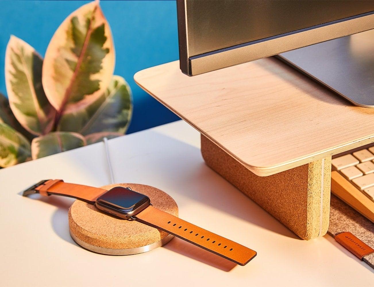 Grovemade Cork Apple Watch Dock