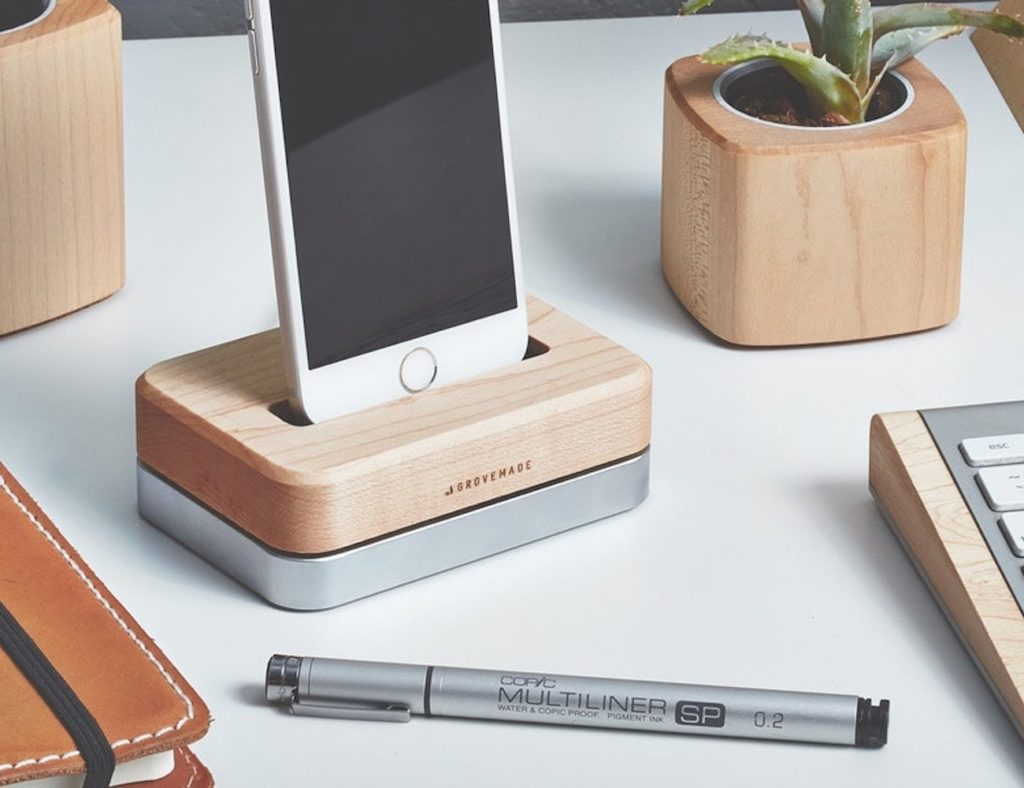 Grovemade Wooden iPhone Docking Station