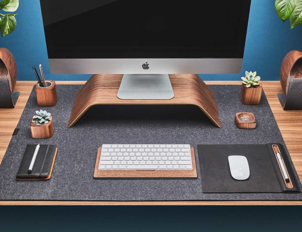 Grovemade+Wool+Felt+Desk+Pad+lends+a+touch+of+class+to+your+workspace
