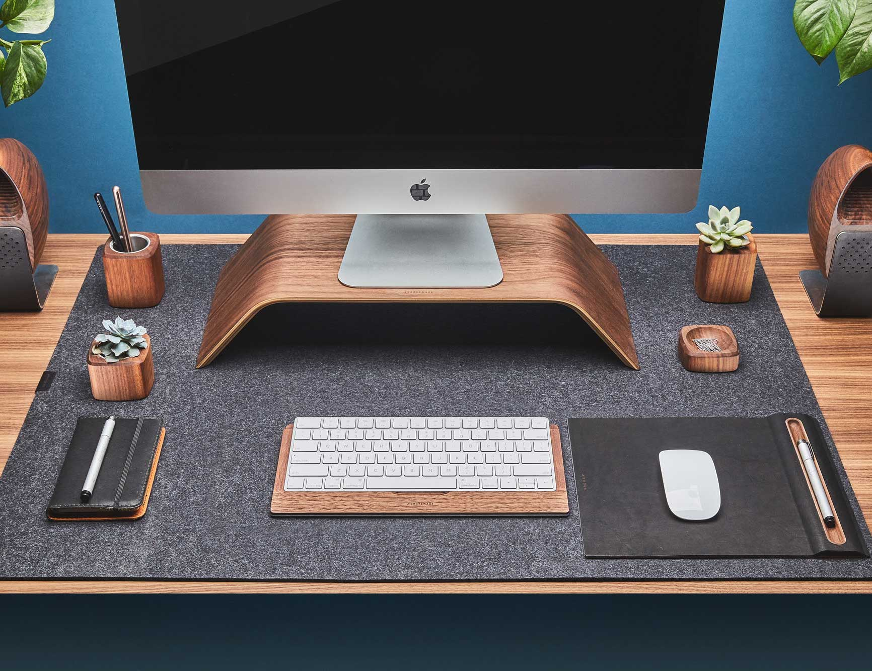Grovemade Wool Felt Desk Pad lends a touch of class to your workspace